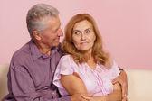 可爱的老夫妇 — 图库照片