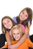 Ładny trzy młode dziewczyny — Zdjęcie stockowe