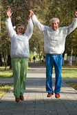 Active old jumping — Stock Photo