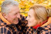 Lindo casal velho — Fotografia Stock