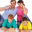 Cute family game — Stock Photo
