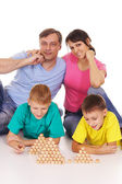 Cute family game — Photo
