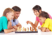 Boys playing chess — Stock Photo