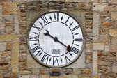Lastres Tower clock close up — Stock Photo