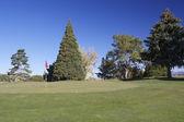 Arizona Golf Hole in Fall — Stock Photo