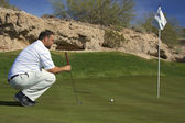 Lining up a Putt in Arizona — Stock Photo