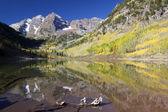 Maroon Bells in Fall — Stock Photo