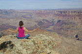 Grand canyon meditation — Stockfoto