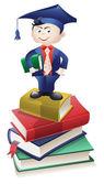 Educated Boy — Stock Vector