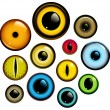 Eye Set - Stock Vector