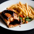 Salmon steak — Foto de Stock