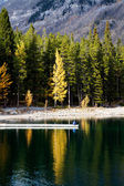Lago minnewanka — Foto Stock
