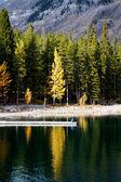 Lake minnewanka — Stockfoto