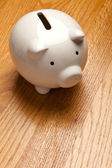 Witte piggy bank — Stockfoto