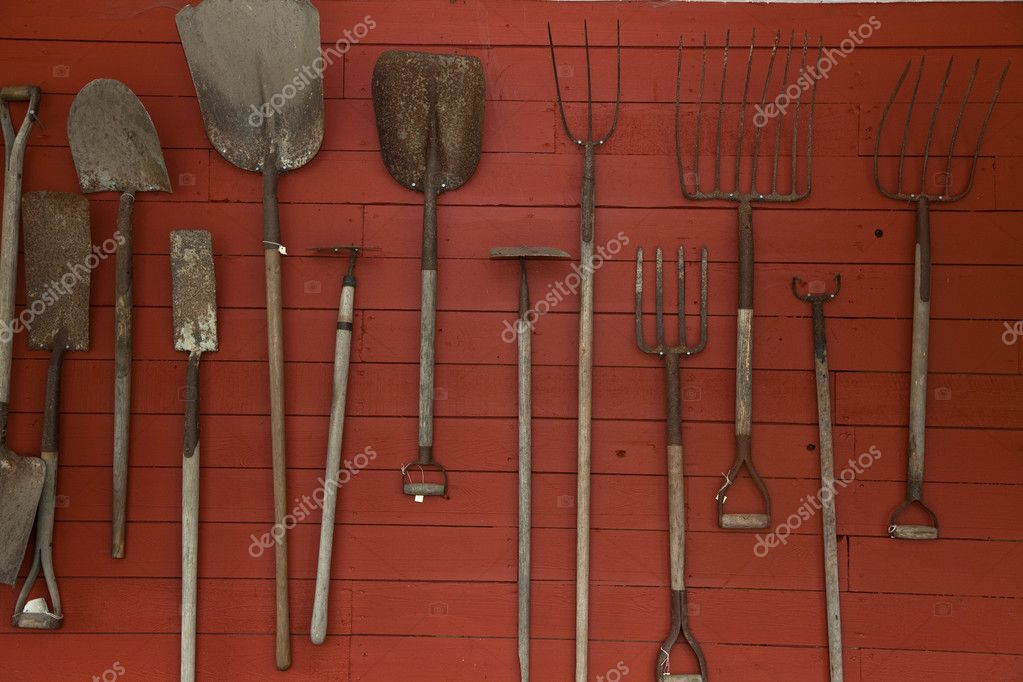 Old Farm tools close up — Stock Photo #7323315