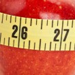 Red apple and Tape Measure — Foto de stock #7372987