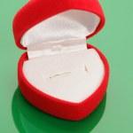 czerwone serce kształcie pudełku — Zdjęcie stockowe
