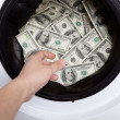 Money laundry - Stock Photo
