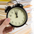 File Stack and clock — Stock Photo #7396434