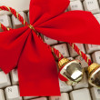 Christmas Bells and ribbon — Stock Photo #7409635