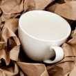 Stock Photo: Brown Paper and cup