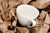 Brown Paper and cup — Stockfoto