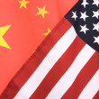 China and USA Flag — Foto de Stock
