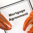 Lobster Claw and Mortgage Agreement — Stock Photo