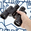 Binoculars Home Sign — Stock Photo #7495526