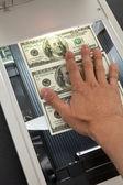 Scanner e dólar — Foto Stock