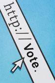Votação on-line — Foto Stock