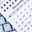 Calendar and Keyboard — Stock Photo