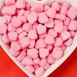 Pink Heart Shape Candy — Stockfoto #7535816