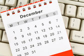 Kalendář a klávesnice — Stock fotografie