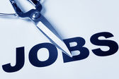 Corte de postos de trabalho — Foto Stock