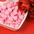 Pink Heart Shape Candy — Stock Photo #7548465