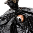 Garbage Bag and can - Stock Photo