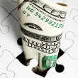 Dollar Puzzle — Stock Photo
