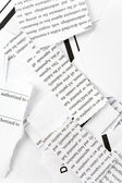 Torn Business Document — Stock Photo