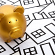 Stockfoto: Golden Piggy Bank