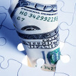 Dollar Puzzle — Stock Photo