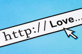 Love in cyberspace — Stock Photo