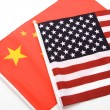 China and USA Flag — Stock Photo