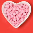 Pink Heart Shape Candy — Stock Photo #7677218