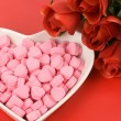 Pink Heart Shape Candy — Photo