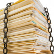 Chain and file stack — Stock Photo