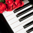 Piano Key and rose — Stock Photo #7690339
