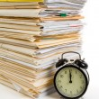 File Stack and clock — Stock Photo