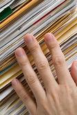 Pilha de arquivos — Foto Stock