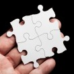 Blank Puzzle — Stock Photo